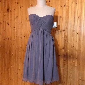 Donna Morgan Silk Sweetheart Strapless Dress